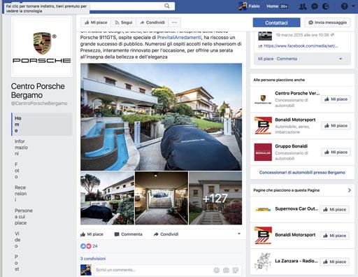 Centro Porsche Bergamo su Facebook